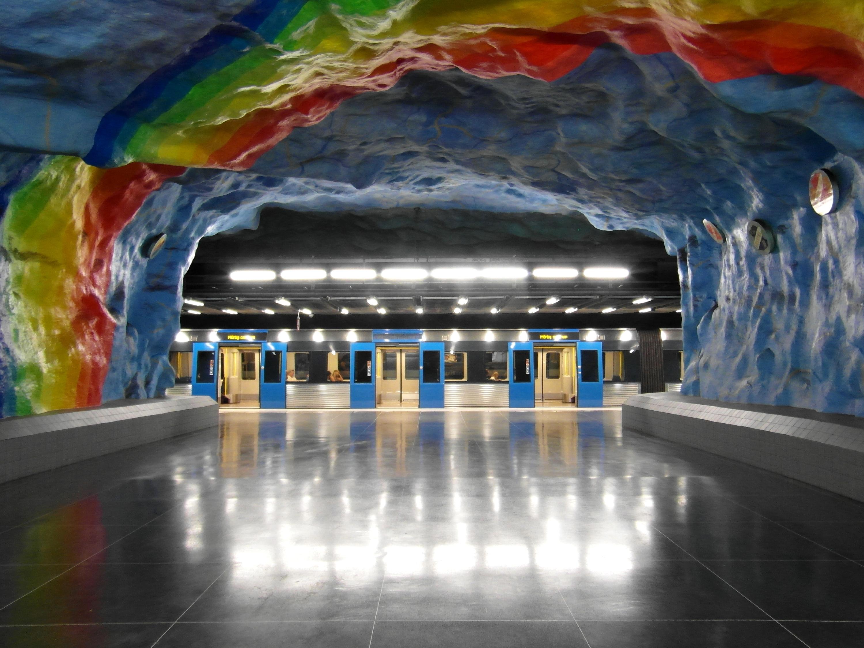 Stacja metra Stadion w Sztokholmie
