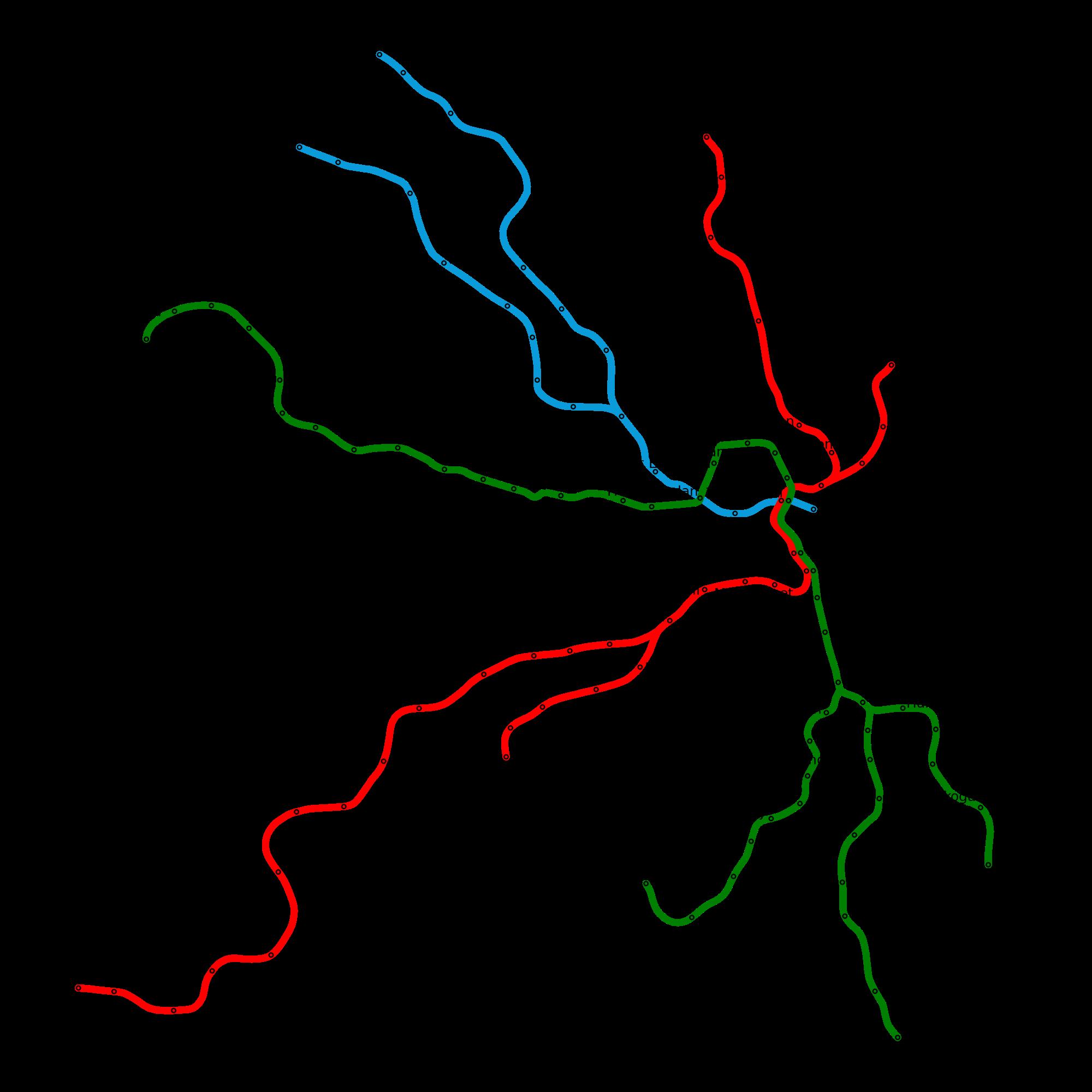 Mapa metra w Sztokholmie